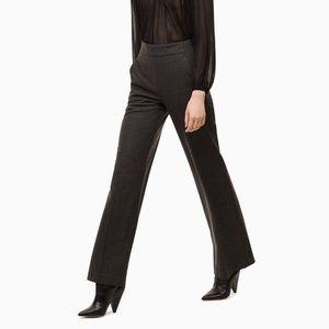 Wilfred flat front wide leg wool pants